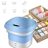 Portable Laundry Tub Mini Foldable Washing Machine,Ultrasonic Cleaning Machine, Small Automatic Underwear Folding