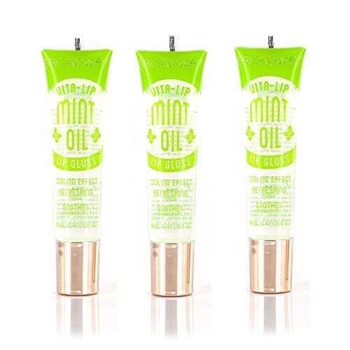 Broadway Vita-Lip Clear Lip Gloss 0.47oz/14ml (BCLG0101- Mint Oil),Pack of 3