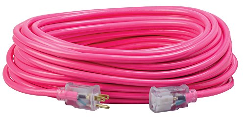 Southwire 2579SW000A Neon Outdoor Extension Cord, 100-Foot, Pink