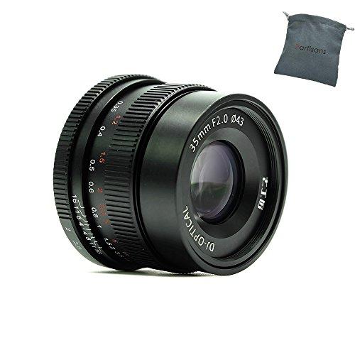 7artisans 35mm F2.0 Full Frame Manual Focus Prime Fixed Lens for Sony E-Mount Cameras - Black