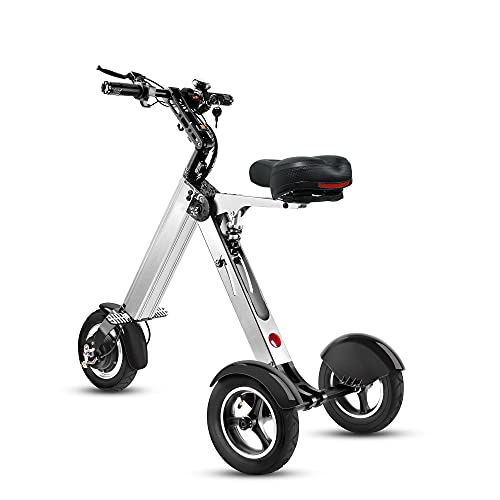 TopMate ES32 Electric Scooter Mini Tricyclefor Adult, Folding Electric Mobility Scooter with 10 Inche Pneumatic Tires and Reverse Function,Key Switch and LED Display Electric Trike for Travel