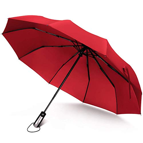 Windproof Reinforced Frame Auto Open Close Rain Travel Umbrella Heavy Duty Teflon Coated Canopy Fast Drying Non Slip Handle and Ideal for Outdoor Easy Carry for Men and Ladies Myzixuan