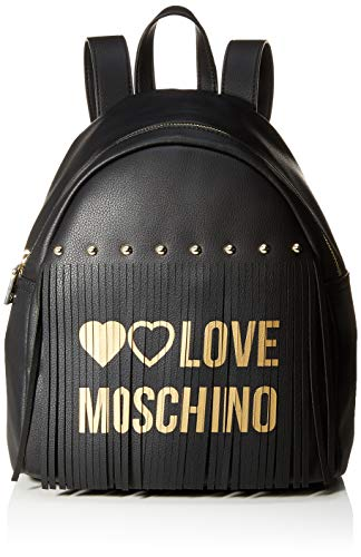 Love Moschino Pu, Borsa a Zainetto Donna, Nero (Nero), 30x12x28 cm (W x H x L)