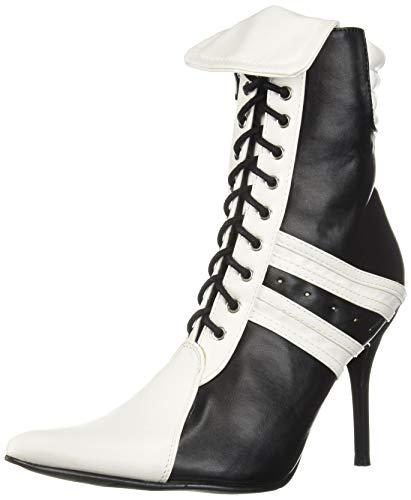 Ellie Shoes Women's 457-Ref Fashion Boot, Black/White, 8 M US