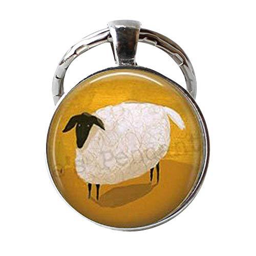 Joyería de ovejas, llavero de oveja, llavero de oveja, joyería de oveja negra, oveja negra Baa Baa, regalo de tejer, lana