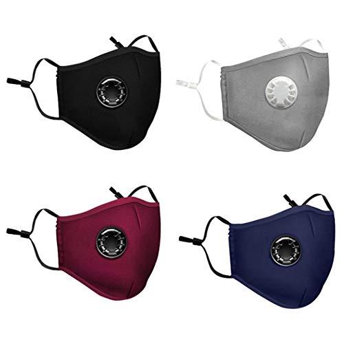 JFDSD Unisex Reutilizable y Lavable con Bandas Elasticas para Los Oídos Pack 4 unidades