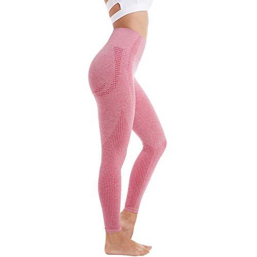 Aoxjox Women's High Waist Workout Gym Vital Seamless Leggings Yoga Pants (Dusky Pink Marl, Small)