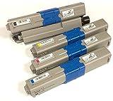 Pack de 4 cartuchos de Toner Generico para OKI EXECUTIVE ES3451 MFP/ES5430DN/ES5461, toner negro-cyan-magenta-amarillo