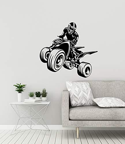 Quad Bike Vinyl Muurtattoo Sport ATV Garage Man Cave Decor Sticker
