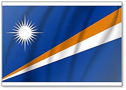Kühlschrankmagnet, Motiv: Flagge der Marshallinseln, realistisch