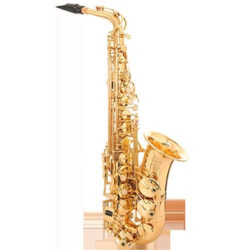 Chyuanhua Saxophon E flaches Altsaxophon-Windinstrument Allround-Verstärkungssaxophon Geeignet für Studenten und Anfänger (Farbe : As Shown, Size : One Size)