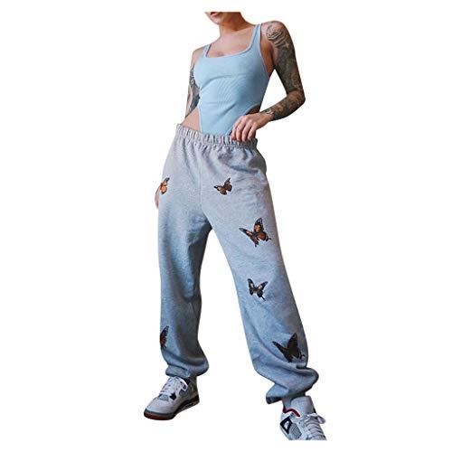 Damen Sporthose Freizeithose, Frauen Mode Bedruckte Beinhose Jogginghose Hose Trainingshose Fitnesshose Sweathose High Waist Lang Traininghose