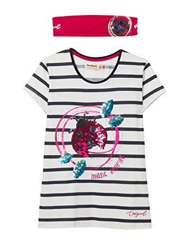 TS/_Ottawa Desigual Girl Knit T-Shirt Short Sleeve Bambina