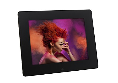 Rollei Pissarro DPF-80 digitaler HD Bilderrahmen mit Fernbedienung, 8 Zoll - 1024 x 768 - Schwarz