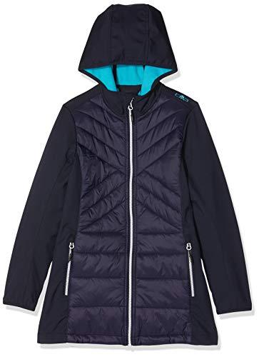 CMP Mädchen Softshell-Hybrid Mantel 39A0685, Black Blue, 152