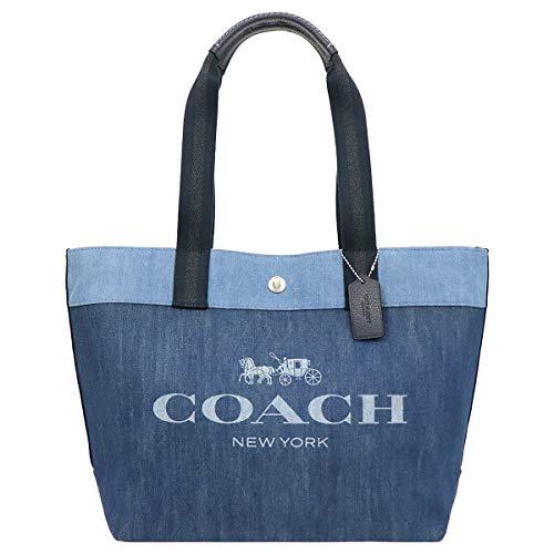 [コーチ] COACH バッグ(トートバッグ) F91131 デニム ホース アンド キャリッジ プリント デニム キャンバ...