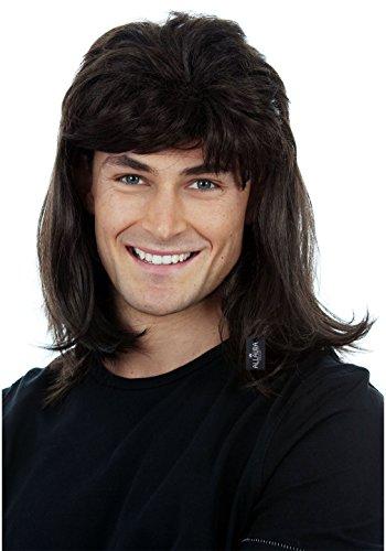 80s Black Mullet Wig for Men Wayne 70s 80 Disco Redneck Hillbilly Costume Wigs Rocker Halloween Adults Kids