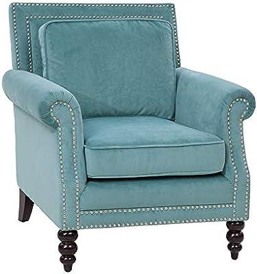 Grafton Blair Accent Barrel Chair, Caribbean Blue