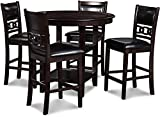 New Classic FURNITURE Gia Counter Dining Set, 42.25', Ebony