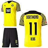 PUMA Borussia Dortmund BVB Heimset 2021 2022 Home Kit Sponsor BL Logo Kinder Marco Reus 11 Gr 140