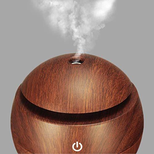 Difusor de Aromas, LED, 7 Cores - Madeira Escura