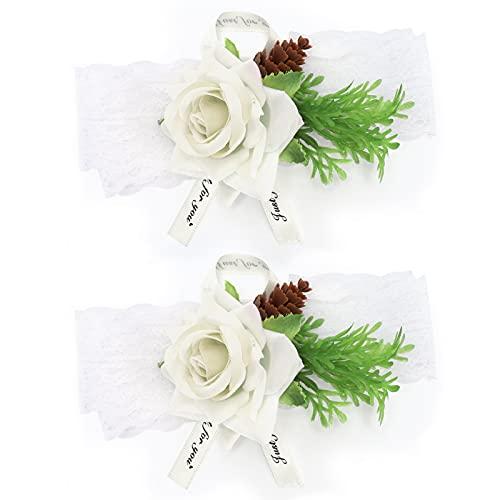 Cikonielf Wrist Flower 2pcs Seid...