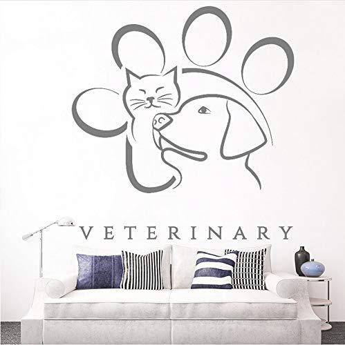 Wuyii 57 x 60 cm Medicina Delegaria dierenpet sticker van vinyl, zelfklevend, motief kat, raamfolie, verwijderbaar