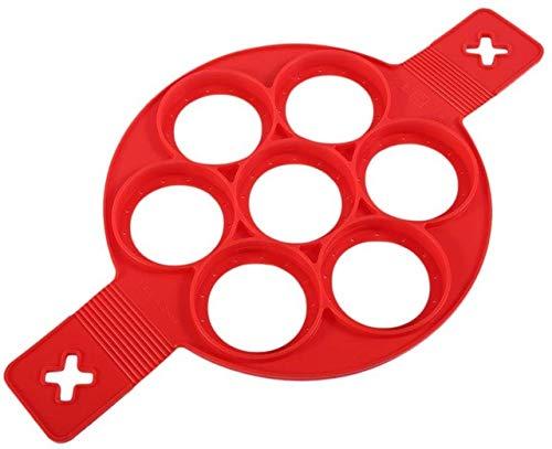 1 StüCk Silikon Antihaft Magische Ei Pfannkuchen Maschine Ring KüChe Backen Omelettform Reiskocher Eierring Form Runde Kochform(Color:EIN Stück)