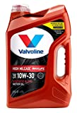Valvoline High Mileage with MaxLife Technology SAE 10W-30 Synthetic Blend Motor Oil 5 QT