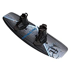 Black/grey Aqua extreme wakeboard with lace-up boots Layered glass top Sheet/two molded-in fins with continuous rocker Clean, crips graphics/v-bottom Tunnel Feather core technology/lightest bottoms/ABS retention steps/reinforced ABS fin block Length:...
