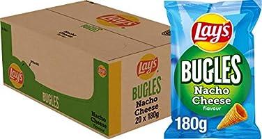 Lay's Bugles Nacho Cheese Chips, Doos 20 stuks x 180 g