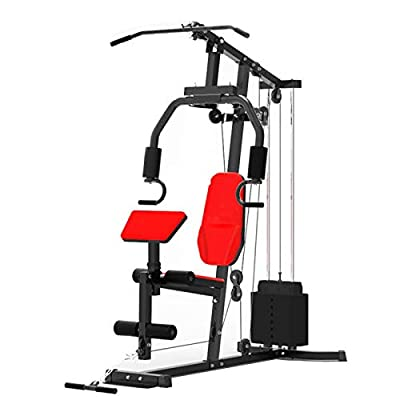 INTSUPERMAI Home Gym Strength Training Workout Equipment Weight Bench Exercise Fitness Integrated Trainer