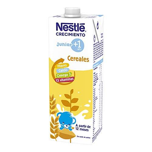 Nestlé Junior 1+ Cereales - Leche para niños a partir de 1 año - 6x1L, sin aceite de palma