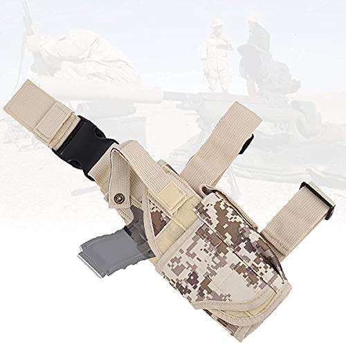 XJYXH Pistola de la Pistola, Bolsa de Caza con diseño Impermeable, Ergonómico, Airsoft Ajustable Airsoft Caza Pistola Pistola Funda, Bolsa de Muslo para Disparar Deportes, Entrenamiento de sim