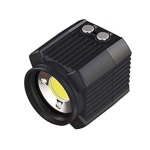 Yamyannie Luz de Buceo Cámara subacuática Flash 60M Resistente al Agua Luz de llenado de Buceo 2000lm para héroe Acción Video Cámaras Accesorios para Bucear (Color : Black, Size : 6.9 * 4.55 * 4.5cm)