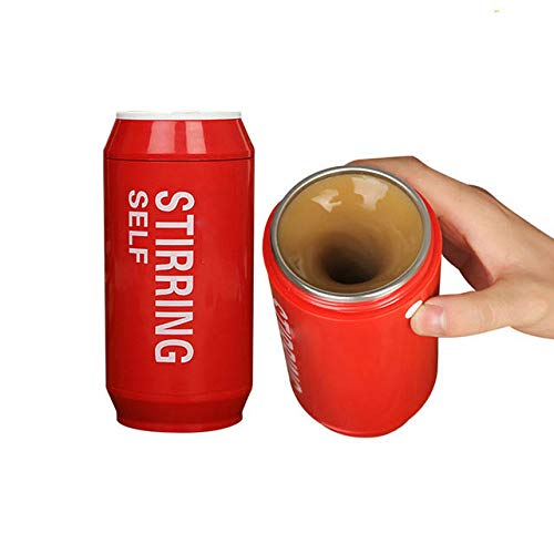 Funny Stainless Steel Cola Mixing Mug for Coffee - Portable Self Stir Travel Cup with Lid - Best Cute Birthday Gift for Men Women