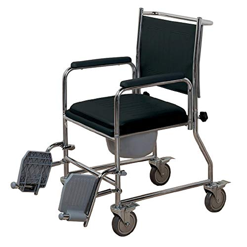 NRS Healthcare Wheeled Commode/ Over Toilet Chair L22056 (Eligible for VAT Relief in The UK)