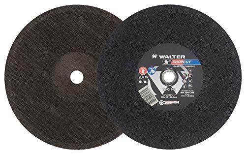 Walter 10Q163 CHOPCUT Performance Cutoff Wheel - [Pack of 10] A-30-HC+ Grit, 16 in. Cutting Wheel. Abrasive Cutting Tools