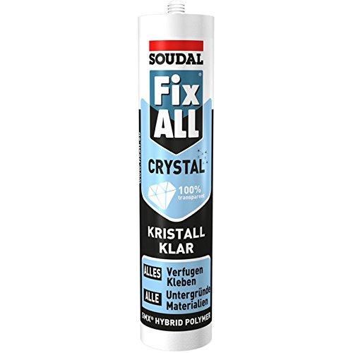Soudal 111104 Dicht-/Klebstoff Fix ALL CRYSTAL 300g in glasklar