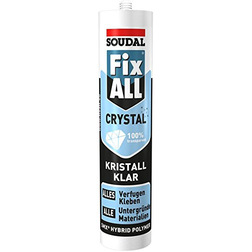 Soudal 111104 Dicht-/Klebstoff Fix ALL CRYSTAL 290ml in glasklar