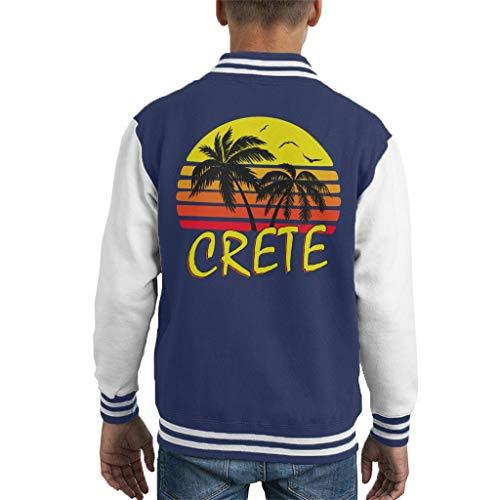 Cloud City 7 Crete Vintage Sun Kid\'s Varsity Jacket