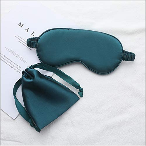 Luxury silk sleep goggles mask for men and women with double silk filling and straps earplugs product image