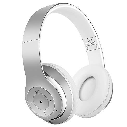 Satohom Plegables Cascos Bluetooth Inalámbrico Auriculares Bluetooth Over Ear Gaming Auriculares de Diadema HiFi Estéreo Cancelación de Ruido Headphone con Micrófono para iPhone iPad Andiord PC Tablet