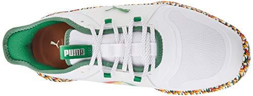 Puma Men's 194811 Golf Shoe, White-Amazon Green, 6.5 UK