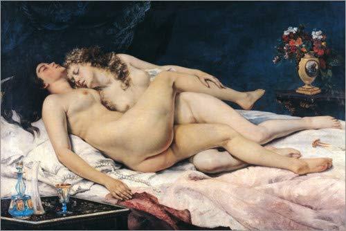 Poster 60 x 40 cm: Der Schlaf von Gustave Courbet - hochwertiger Kunstdruck, neues Kunstposter