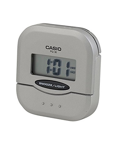 CASIO 10142 PQ-30-8D - Reloj Despertador Digital Gris