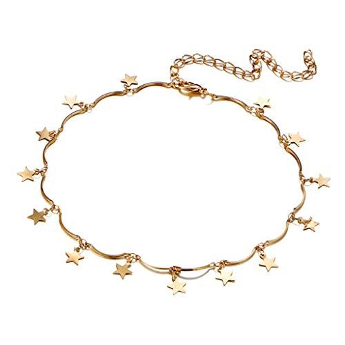 Mode wilde atmosferische ketting goud zilver pentagram ketting sleutelbeen keten persoonlijkheid eenvoudige inrichting