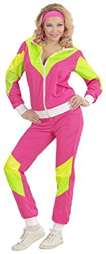 Karneval-Klamotten 80-er Jahre Kleidung Damen-Kostüm New Kids Assi Proll Kostüm 80s Joggingjacke und Jogginghose