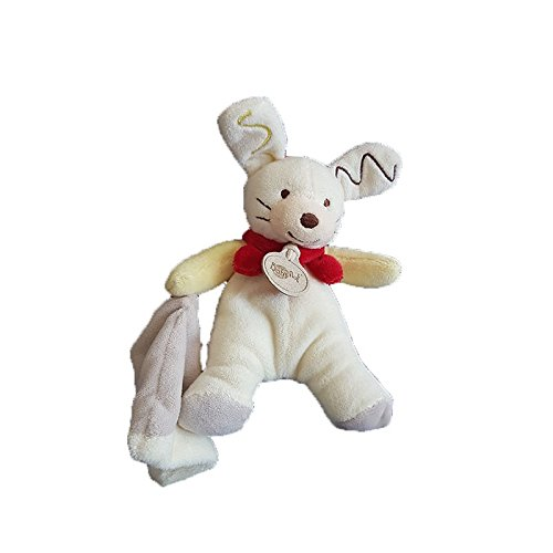 Babynat Doudou Babynat Babynat lapin bleu rabbit blue et blanc musical BN744-5839