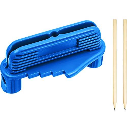 Center Scriber Line Scriber Marking Tools, Woodworking Offset Center Marking Tool Scriber Gauge Center Finder Tool Wood Scribe Marking Gauge with 2 Pencils, Blue